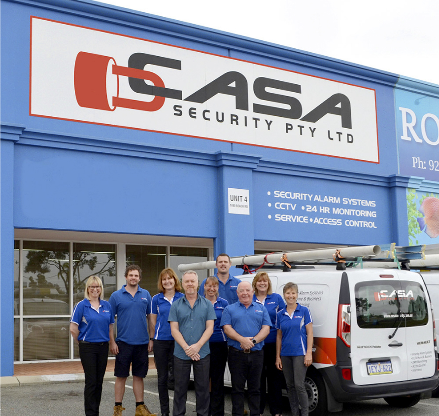 casa security team in the shop